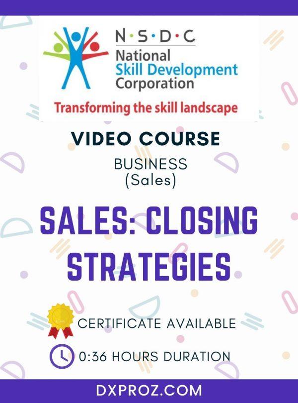 Sales: Closing Strategies