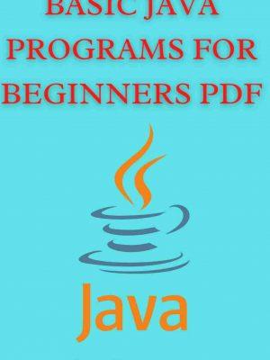 Basic java programs for beginners pdf